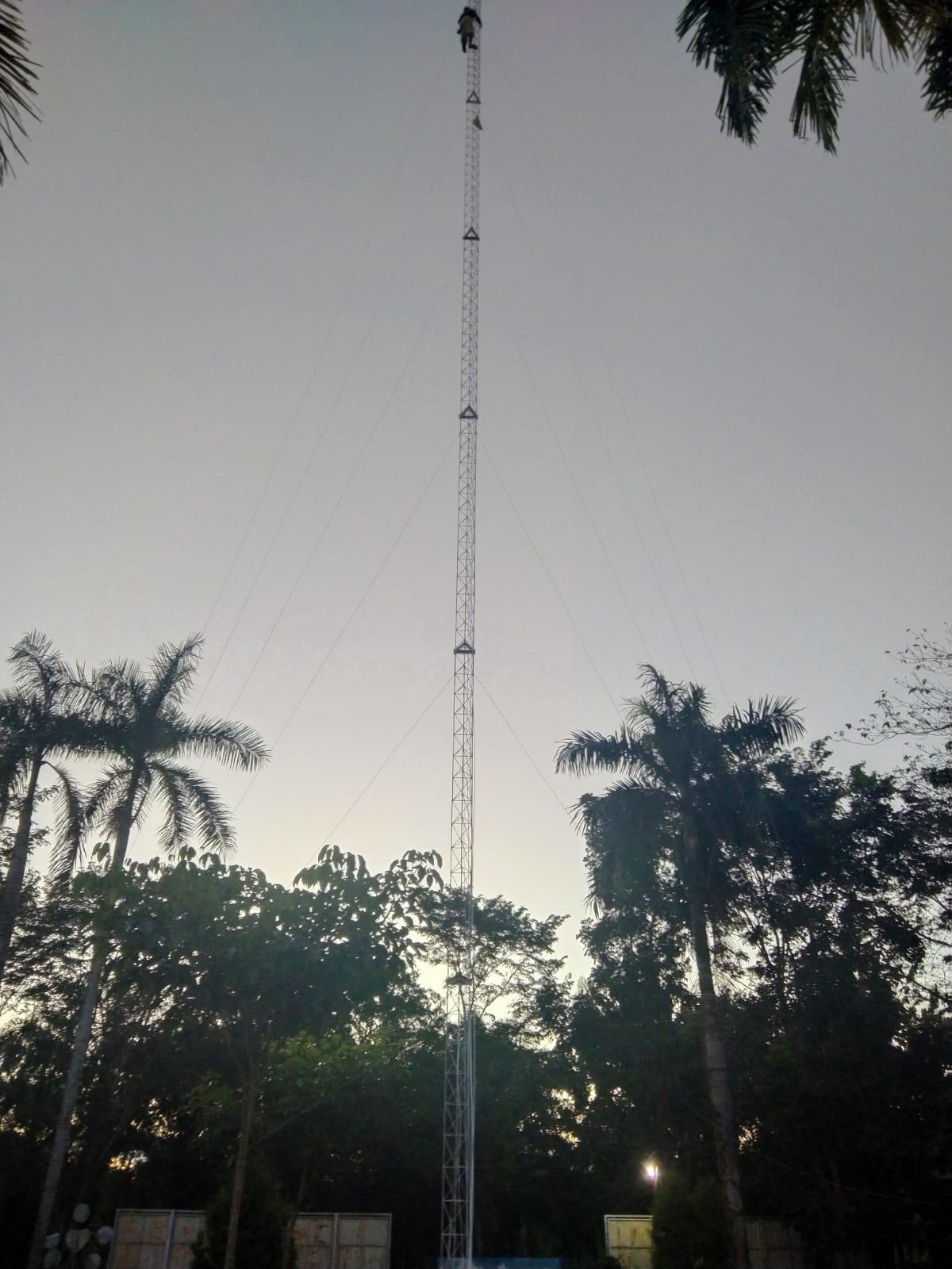 PEMASANGAN TOWER DI KECAMATAN KISARAN BARAT