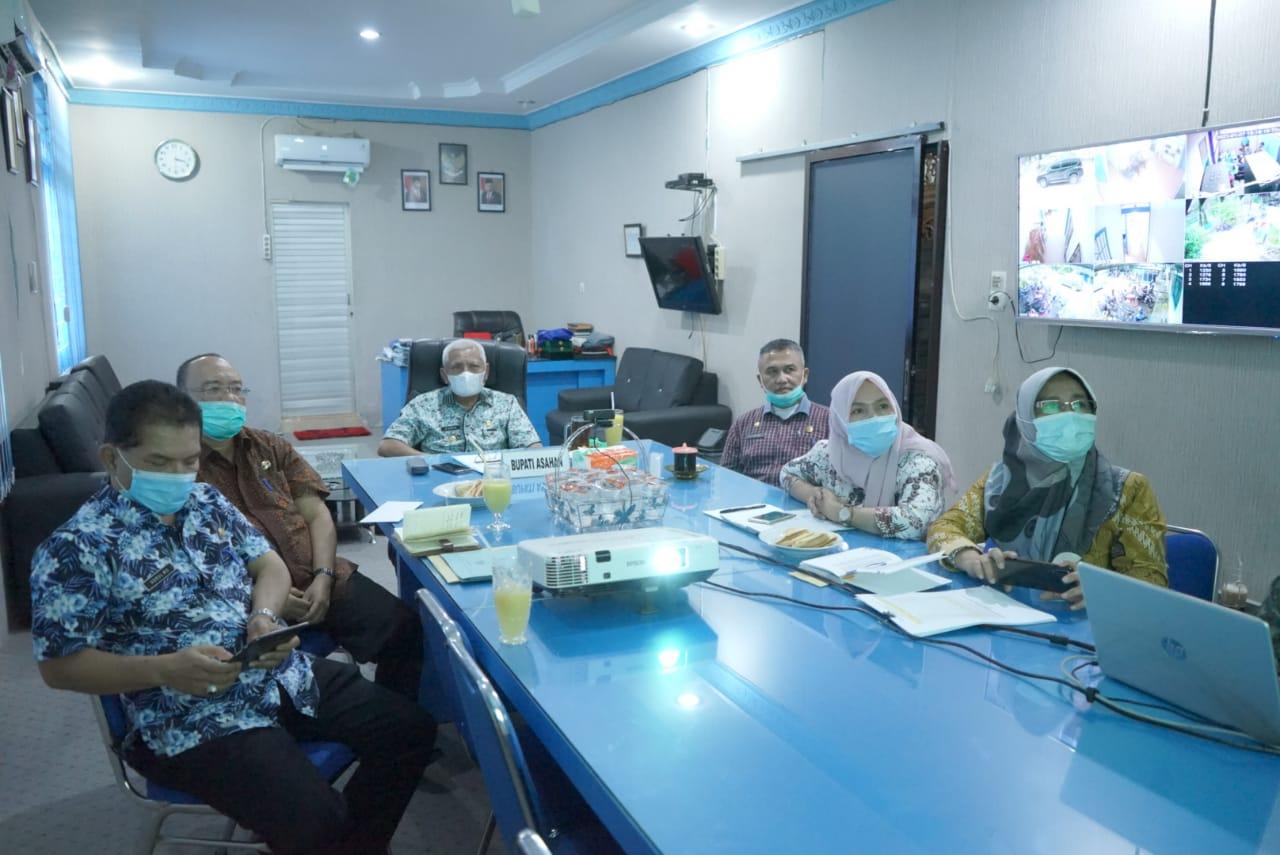 Bupati Asahan Ikuti Rapat Koordinasi Persiapan Pelaksanaan Vaksinasi Covid-19 Tahap I di Provinsi Sumatera Utara