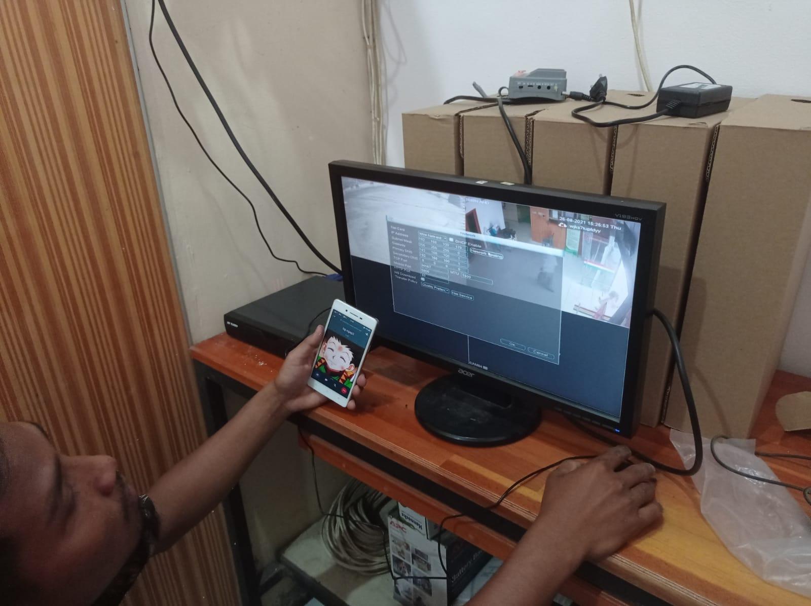 PERBAIKAN KONEKSI JARINGAN INTERNET DAN CCTV DI KECAMATAN AEK LEDONG