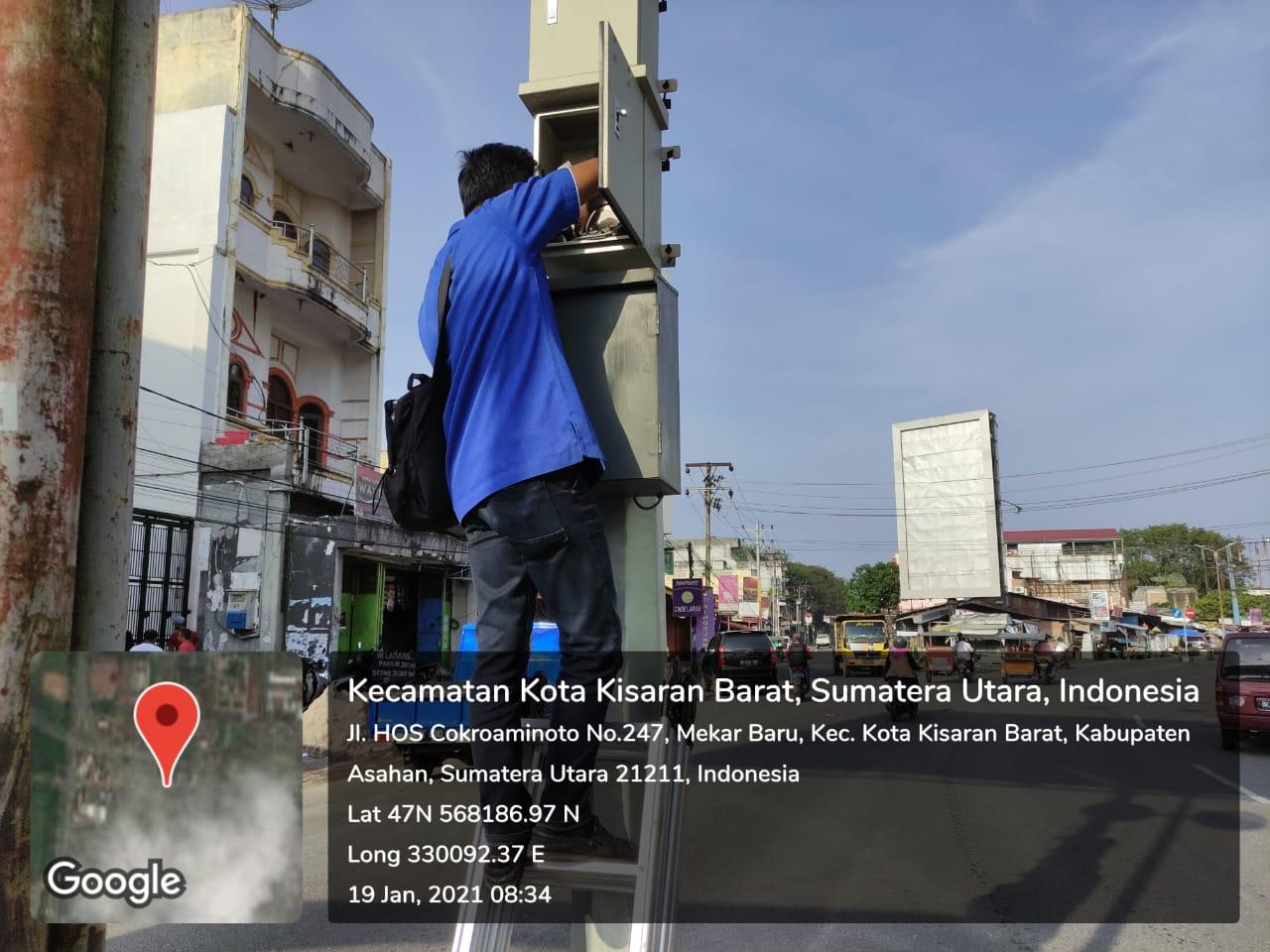 Perbaikan CCTV Titik Lokasi Jalan HOS Cokroaminoto Kecamatan Kota Kisaran Barat