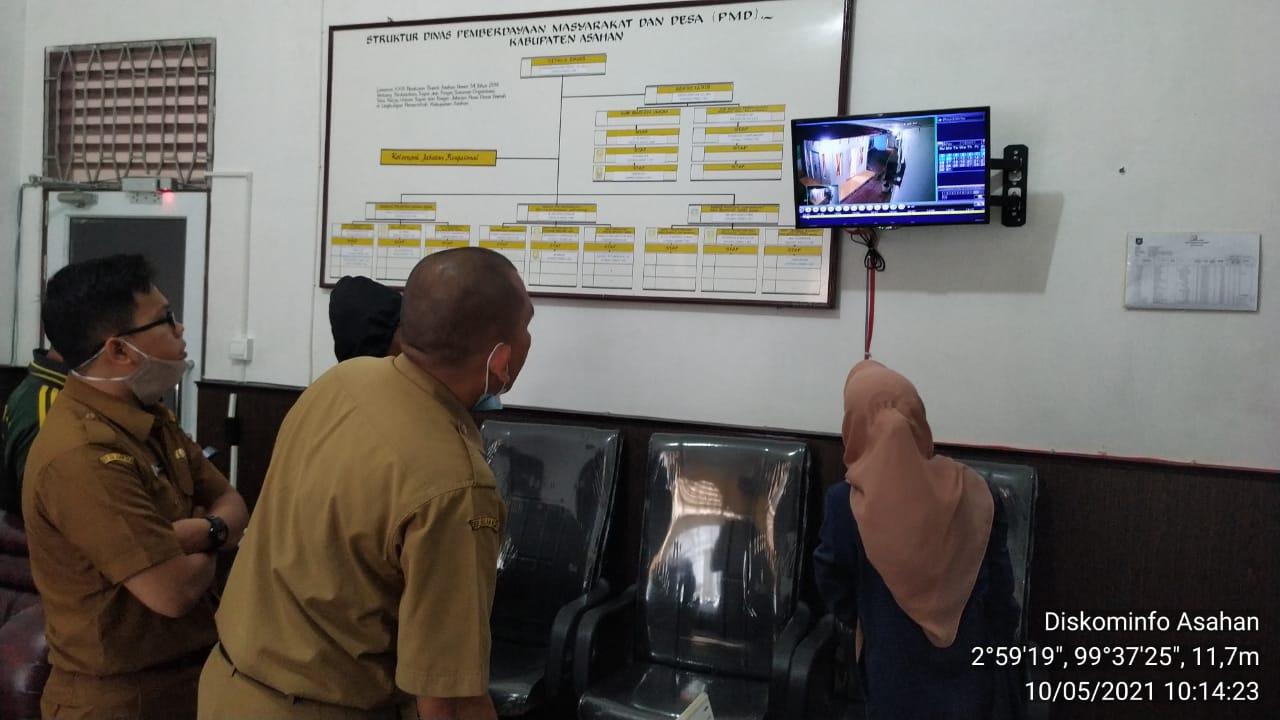 PENGECEKAN CCTV DI DINAS PEMBERDAYAAN MASYARAKAT DAN DESA