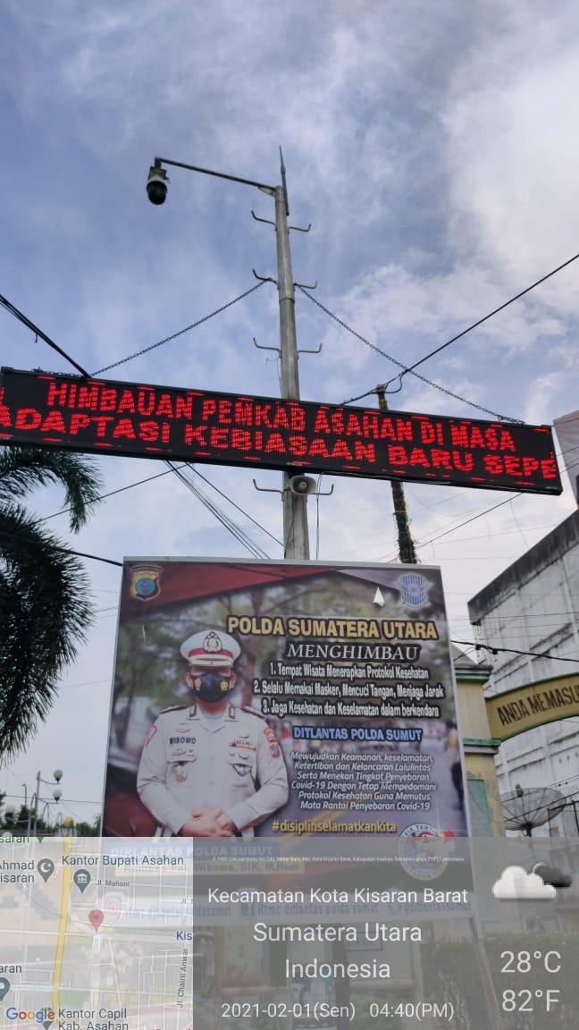Update Running Text Himbauan Covid 19 Lokasi Taman Mantri MA'DJIZAT dan Depan Imam Market Kisaran